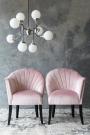 The Lovers Velvet Chair - Blush Pink