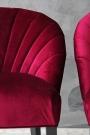 The Lovers Velvet Chair - Pinot Noir Red