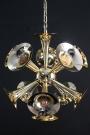 Brass Trumpet Cluster Light