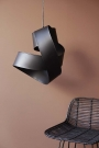 Lifestyle image of Black Twisted Ribbon Ceiling Light