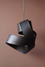 Image of Black Twisted Ribbon Ceiling Light