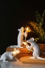 Porthos The Sitting Mouseketeer Lamp - White