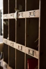 Close-up of the pigeon holes on the Traditional Pigeon Hole Wooden Storage Wall Unit