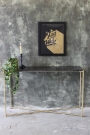 Carrara Marble Console Table - Black Marble