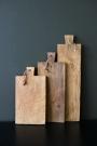 Set Of 3 Teak Paddle Breadboards