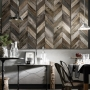 Koziel Antique Wood Chevron Wallpaper
