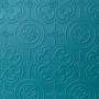 Close up of the Anaglypta Egon wallpaper painted blue - Rockett St George