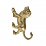 Gold Prowling Lion Wall Hook