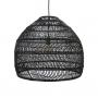 Giant Black Wicker Dome Ceiling Light