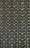 detail image of Barneby Gates Honey Bees Wallpaper - Gold on Charcoal gold bees in gold honeycomb repeated pattern on black background