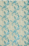 detail image of Barneby Gates Paisley Wallpaper - Turquoise on Old Grey blue oriental style pattern on pale brown background