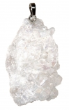 Image of the White Quartz Crystal Hanging Decoration on a white background