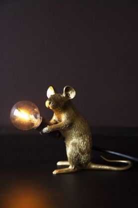 Porthos The Sitting Mouseketeer Lamp - Gold
