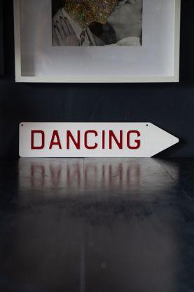 Image of the Dancing Metal Sign Wall Art