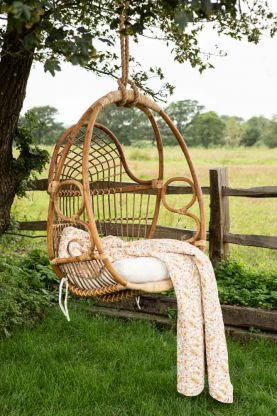 Lifestyle image of the French Style Swinging Garden Chair