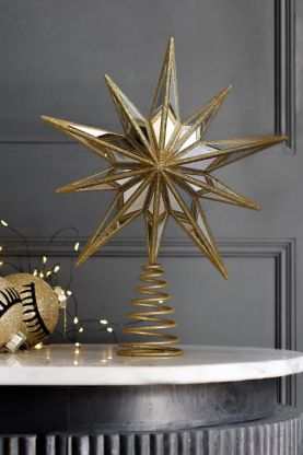 Image of the Gold Star Christmas Tree Topper