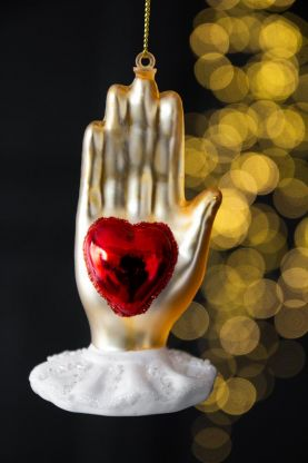 Image of the Heart & Hand Christmas Tree Decoration