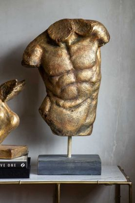Lifestyle image of the Large Gold Effect Torso Sculpture Display Ornament