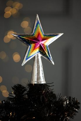 Image of the Multicoloured Star Christmas Tree Topper