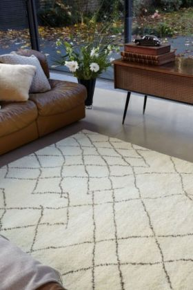 Amira 004 Moroccan Inspired 100% Wool Rug - 160cm x 230cm