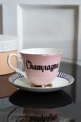 Lifestyle image of the Champagne Teacup & Saucer