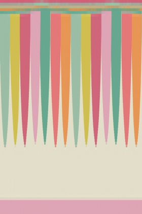 cutout image of Cole & Son Whimsical Collection - Scaramouche Border - Candy 103/8029 - ROLL multicoloured scalloped border