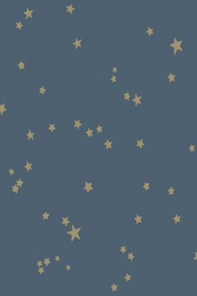 detail image of pattern on Cole & Son Whimsical Collection - Colour Stars Wallpaper - Midnight Blue 103/3017 - ROLL