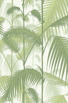 Cole & Son Contemporary Restyled - Palm Jungle Wallpaper - Lime Green 95/1001 - ROLL