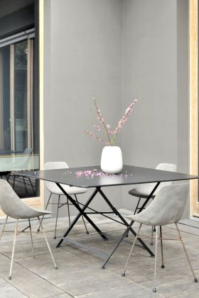 Lifestyle image of the Lyon Beton Concrete Hauteville Chair