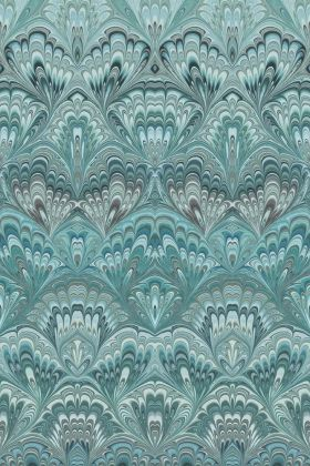 Engblad & Co Lounge Luxe Collection - Shangri-La Wallpaper - Aqua Blue 6388 - ROLL
