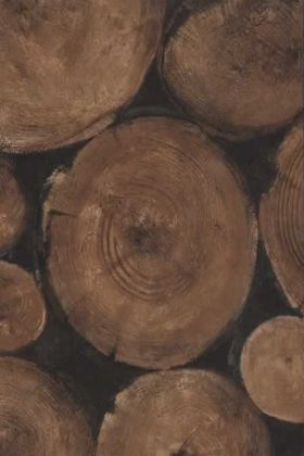 detail image of Andrew Martin Engineer Collection - Lumberjack Log Wallpaper - Timber - ROLL