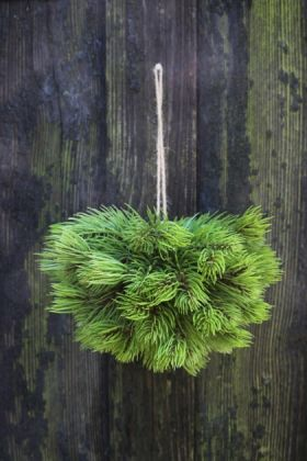 Image of the faux pine hanging decoration