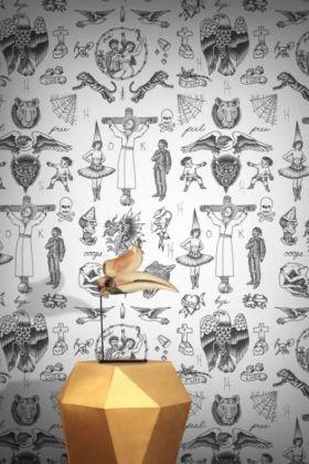 Feathr Tattoo Flash 01 Wallpaper - Original - ROLL