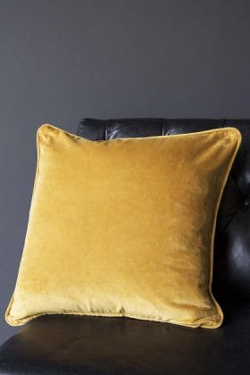 Glorious Velvet Cushion - Mustard