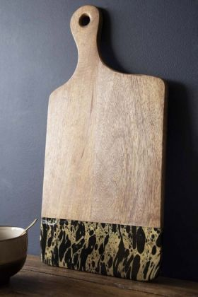 Ink Dipped Mango Wood Chopping / Bread Board - Large