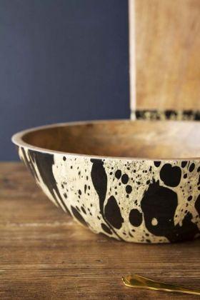 Ink Mango Wood Bowl