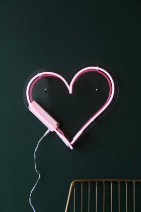Love Heart Neon Light - Pink