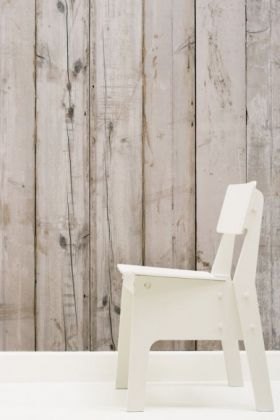 NLXL PHE-07 Scrapwood Wallpaper by Piet Hein Eek - White Wash Planks - ROLL
