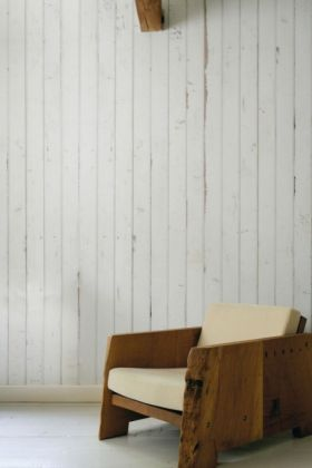 NLXL PHE-08 Scrapwood Wallpaper by Piet Hein Eek - White Fence - ROLL