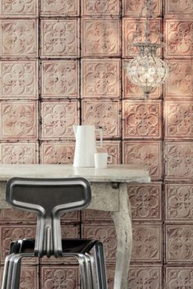 NLXL TIN-06 Brooklyn Tin Tiles Wallpaper By Merci - ROLL