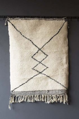 Original Moroccan Berber Bedside Rug - Riad Double Diamond