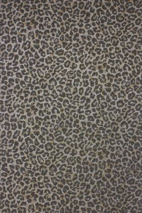 detail image of Osborne & Little Pardus Wallpaper - Metallic Gold W6758-03 - ROLL leopard print