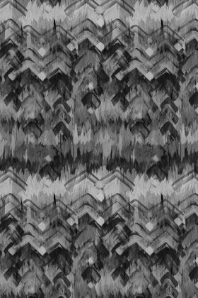 cutout image of 17 Patterns Brushed Herringbone Wallpaper - Black - ROLL black and grey smudged repeated pattern