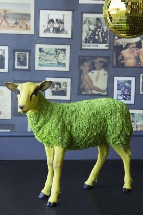 Image of the Pikes at Rockett St George - Green Party Sheep