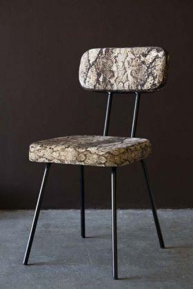 Rockett St George Sexy Snakeskin Dining Chair