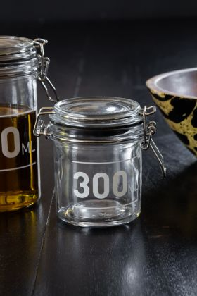 300ML Air Tight Glass Storage Jar