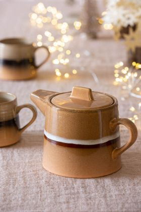 Festive image of the 70's Style Ceramic Teapot