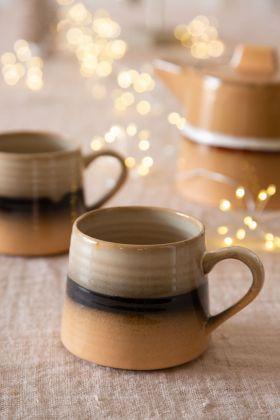 70's Style Large Ceramic Mug