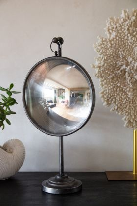 Image of the Convex Fish Eye Mirror On A Stand