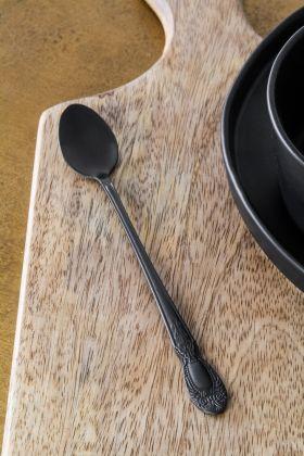 Image of the Antique Black Latte Spoon